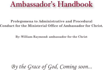 Ambassador's Handbook